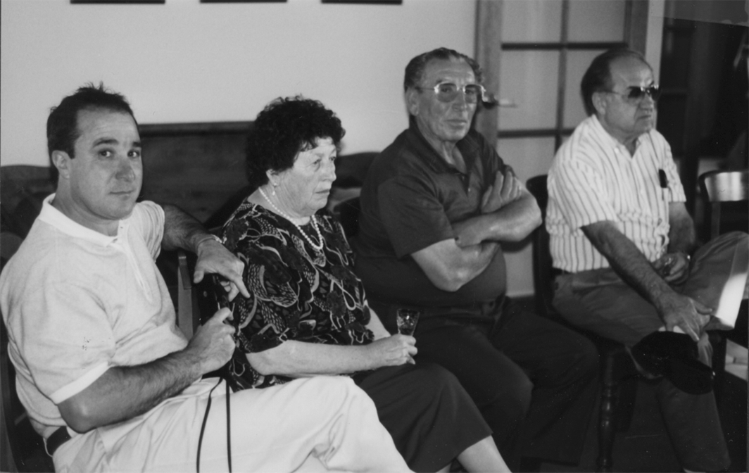 In Adelaide, Australia, 1998. Visiting the Asikas' house in Adelaide, Australia, 1998. (L to R): Colin Asikas, son-in-law of Ditchka and Atanas Gligorovi seating to the left of him, and Yorgi Bellioff.