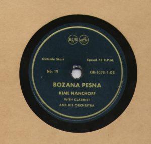 Kime Nanchoff RCA #19 Bozana Pesna