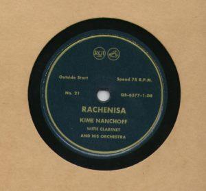 Kime Nanchoff RCA #21 Rachenisa