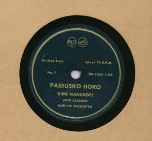 Kime Nanchoff RCA #7 Paidusko Horo